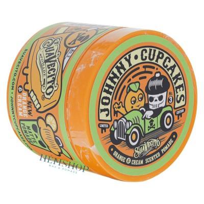Suavecito x Johnny Cupcakes Matte Orange and Cream Pomade