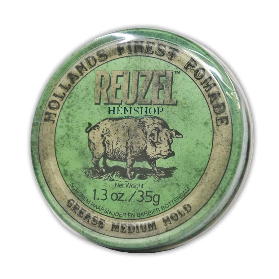 Sáp vuốt tóc Reuzel Green Pomade 1.3oz