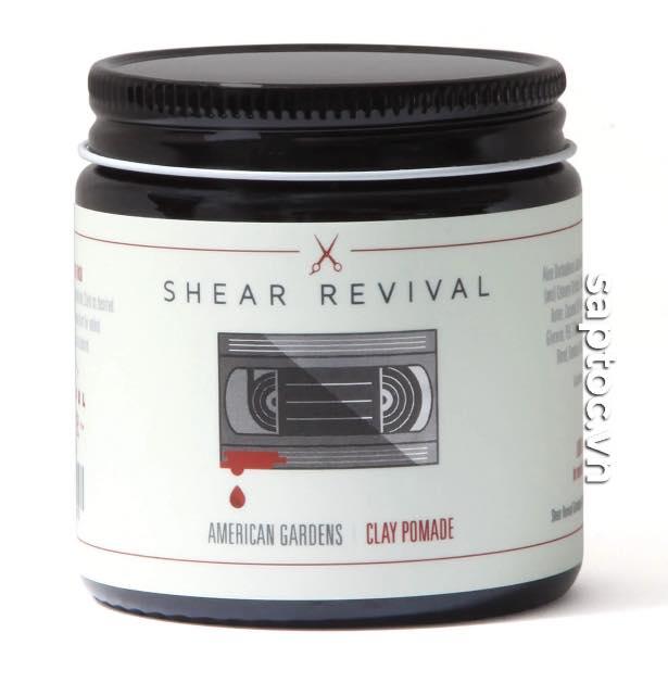 pomade thủ công shear revival american garden clay