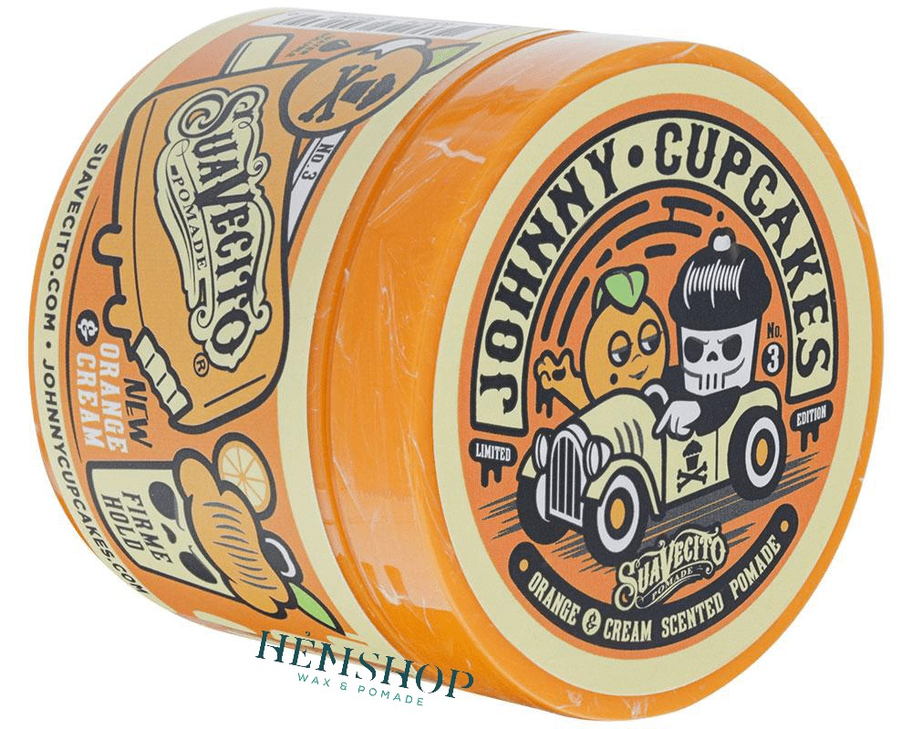 Suavecito X Johnny Cupcakes Firme ( Strong ) Hold Orange and Cream Pomade