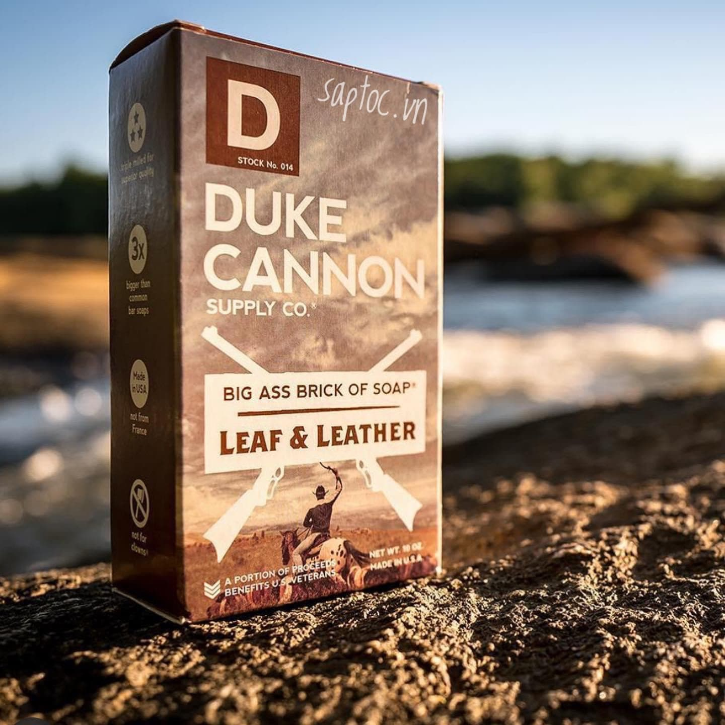 DUKE CANNON BIG ASS BRICK OF SOAP - LEAF AND LEATHER